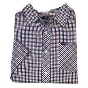 BF126 Zoo York Plaid Skater Brand Pocket Button Down Shirt XL